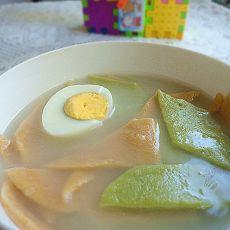 菠菜胡萝卜面片汤