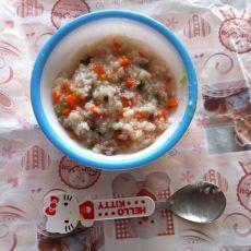 胡萝卜猪肝粥的做法