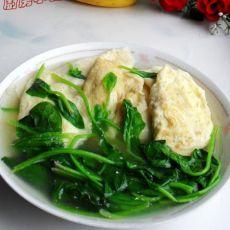 蛋饺菠菜汤