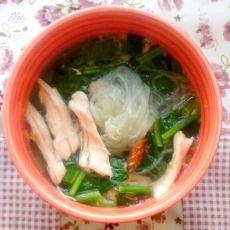 鸡肉菠菜粉丝汤