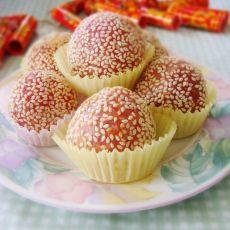 草莓香芒芝麻球