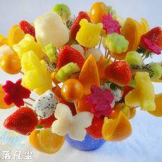 小熊维尼水果花束的做法