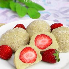草莓粘糕的做法