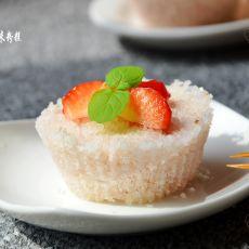 草莓米粉糕的做法
