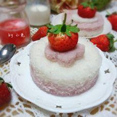 草莓松糕的做法
