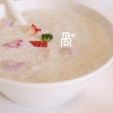 草莓燕麦粥的做法