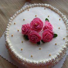 巧克力花奶油蛋糕