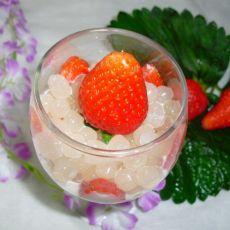 牛奶草莓西米露