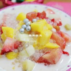 西米椰浆水果捞的做法