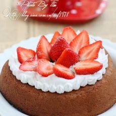 心形巧克力草莓蛋糕