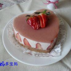 心型草莓慕斯蛋糕