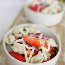 田园贝壳面蔬菜沙拉的做法