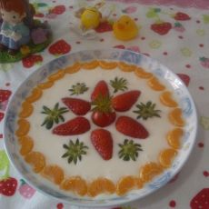 杂果酸奶拼盘的做法