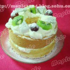 什锦水果戚风蛋糕