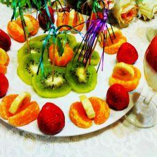 五彩水果大拼盘的做法