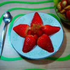 草莓柚子酱小果盘