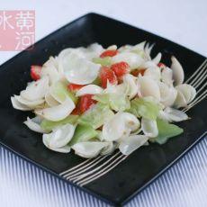 青笋草莓炒百合
