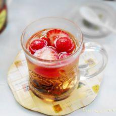 草莓山楂茶