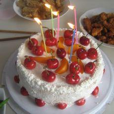 儿子的生日蛋糕