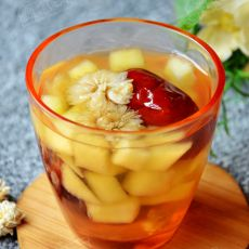 菊花水果茶的做法