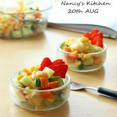 蔬果沙拉杯的做法
