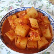 正宗韩国萝卜块泡菜