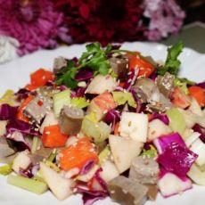 蔬果拌鹅肝
