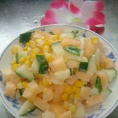 玉米水果沙拉的做法