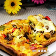 新奥尔蔬果鸡蛋披萨