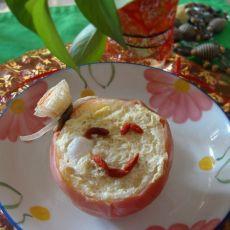苹果炖牛奶蛋