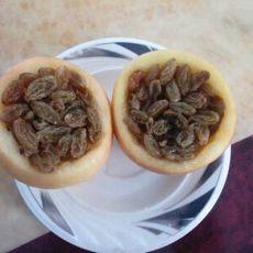 葡萄干酿苹果