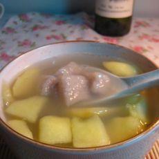 芋圆苹果汤
