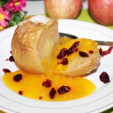 烤苹果配芒果酱