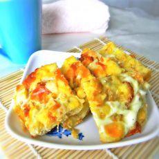 鸡蛋苹果�h面包的做法