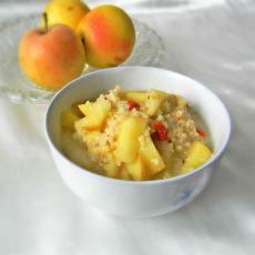 炒米煮苹果
