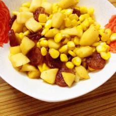 苹果丁炒玉米