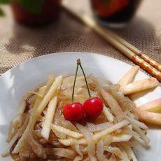 凉拌苹果海蜇丝