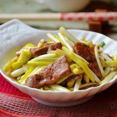 蒜黄炒猪肝的做法
