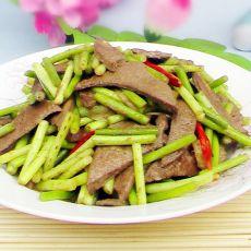 蒜苔炒猪肝的做法
