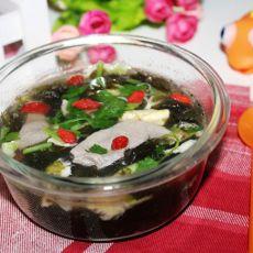 猪肝紫菜蛋花汤