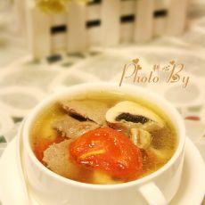猪肝蘑菇番茄汤的做法