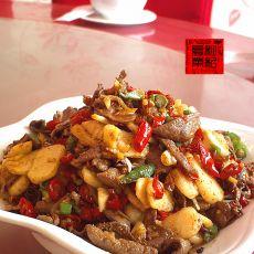 马蹄炒猪肝---下酒菜