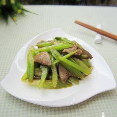 西芹炒猪肝