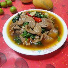 木耳菜炒猪肝