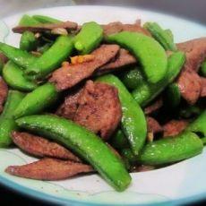 甜豆炒猪肝