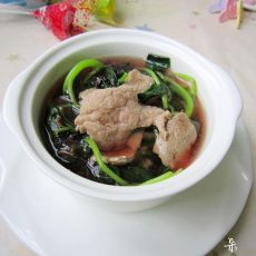 猪肝瘦肉苋菜汤