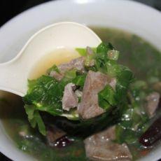 猪肝瘦肉菜丝汤