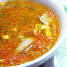 番茄玉米猪肝汤的做法