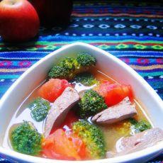 西兰花番茄猪肝汤的做法