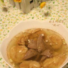 油面筋猪肝汤